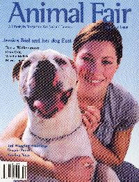 Animal Fair Magazine cover of Jessica Biel with article on artist Susan Calvert