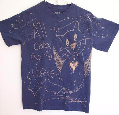 Blue kitty cat angel tee shirt