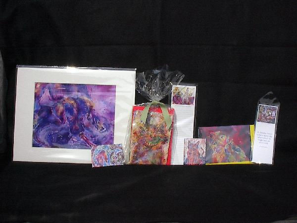 Packaging--(L to R) Print, Magnet, Note Cards, List Pad, Magnet, Single Card, Bookmark